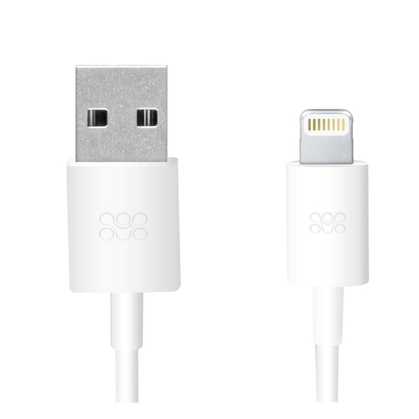 Promate Premium USB to Apple Lightning Sync and Charge Cable (LINKMATE-LT-WH)