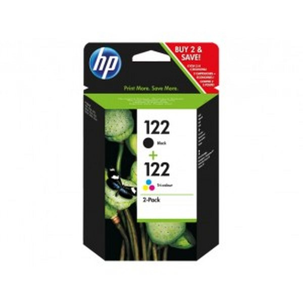 HP 122 2-pack Black/Tri-Colour Original Ink Cartridges (CR340HE)