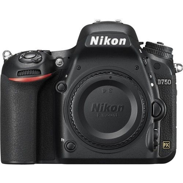 Nikon D750 Body Only - 24.3 MP, SLR Camera, Black (D750BODY)