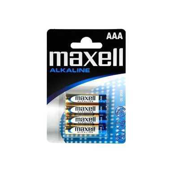 "MAXEL DRY BATTERY / (31228016) (PER PC) (IN PACK OF 4) ""AAA"" (LR03GD-4B)"