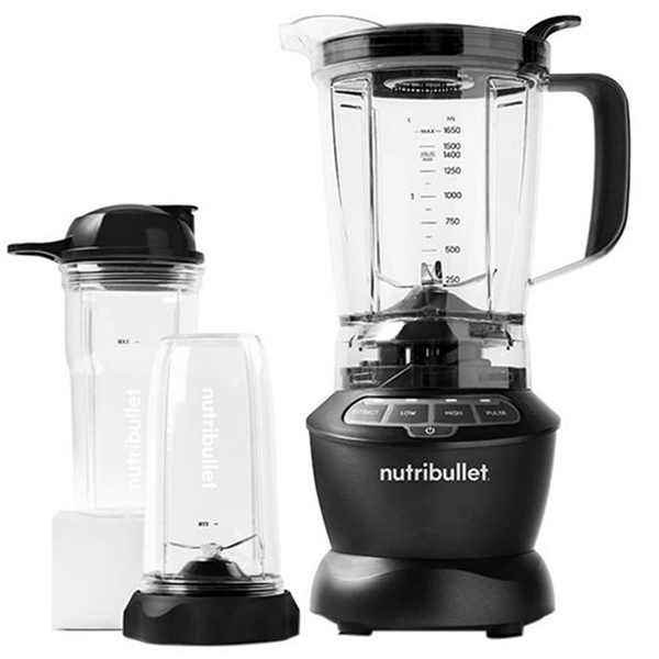 Nutribullet Full Size Blender + Combo 9-Piece High -Speed Blender/Mixer System, 1000 Watts NBC-0910B Dark Grey (NBC-0910B)