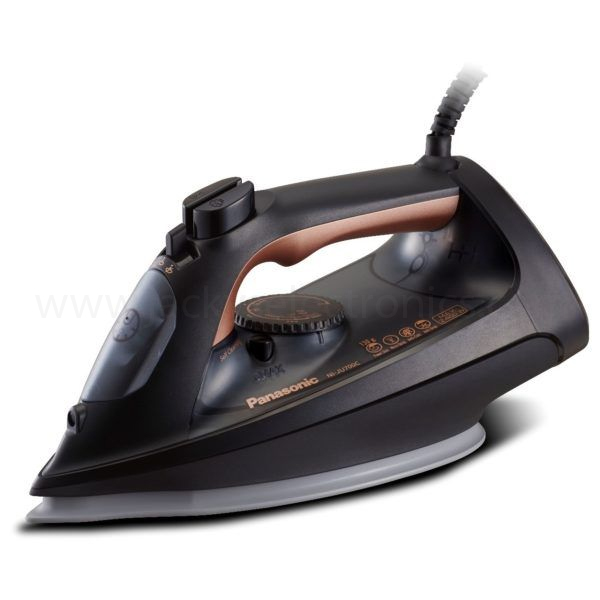 Panasonic Powerful 2400W, Big & Easy Steam Iron, Gold Color, Ceramic Soleplate, Made in Japan (NIJU700)