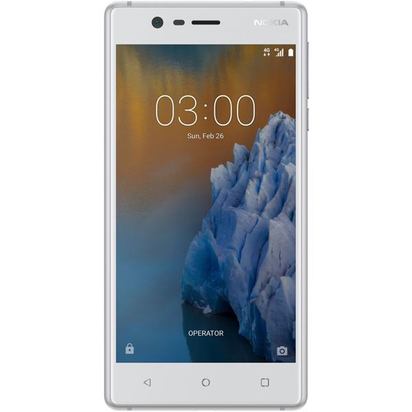 Nokia 3 Dual Sim - 16GB, 2GB RAM, 4G LTE, Silver White (NOKIA5W-SL)