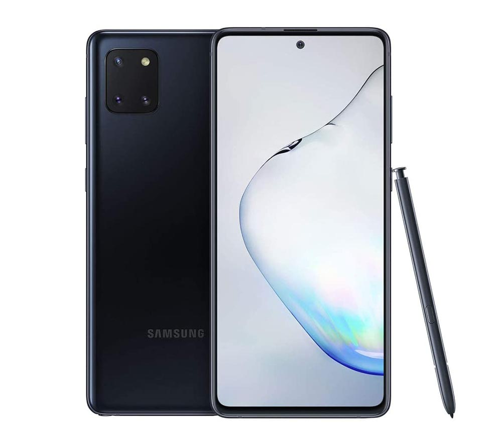 "Samsung Galaxy Note 10 Lite 6.7"" 128GB, 8GB RAM Black SMN770F-128GBBE"