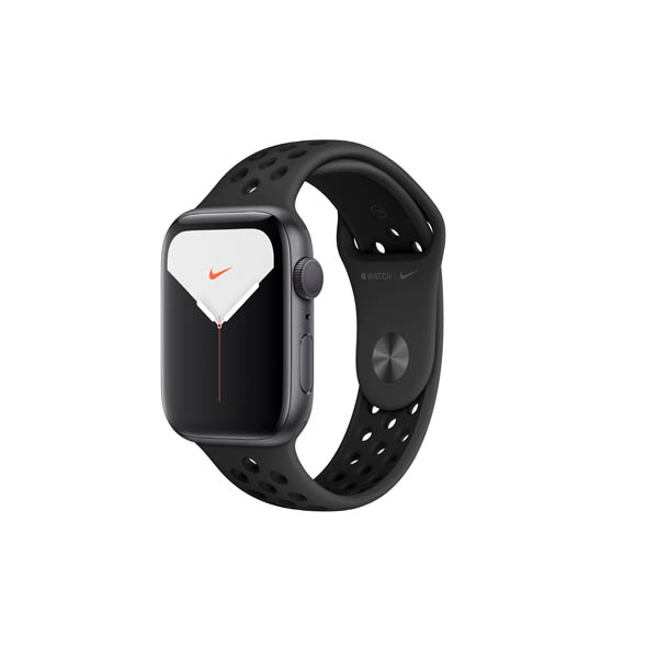 APPLE WATCH NIKE SERIES 5 GPS, 44MM SILVER ALUMINIUM CASE WITH PURE PLATINUM/BLACK NIKE SPORT BAND - S/M & M/L (MX3V2AE/A)