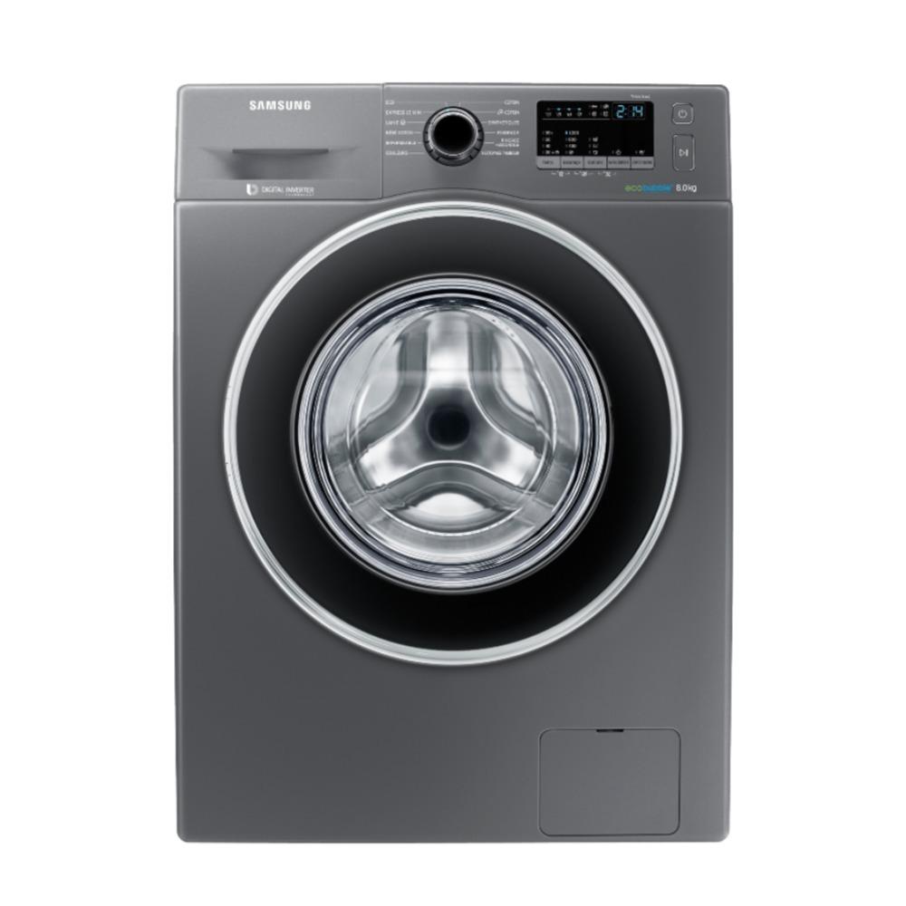 Samsung 8Kgs washer, Digital Inverter Motor, 1200 RPM, Ecco Bubble, Inox WW80J4210GX/GU