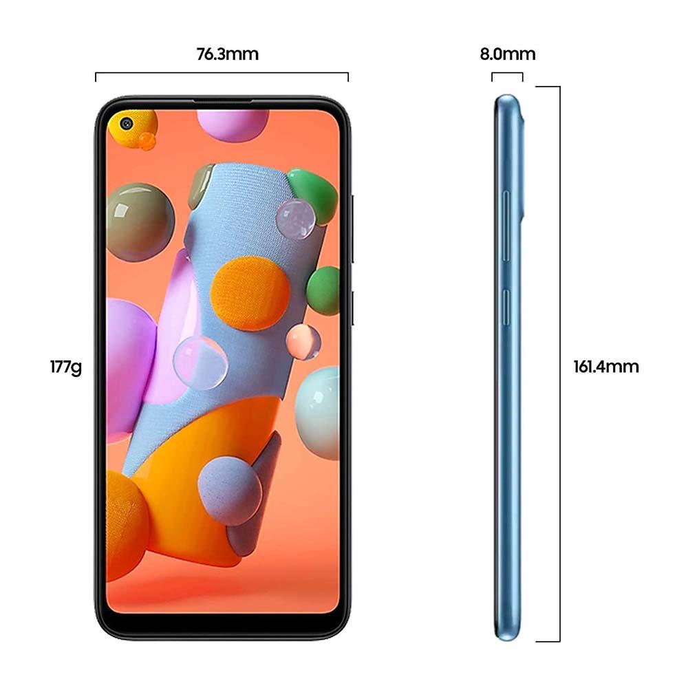 """Samsung Galaxy A11 6.4"""" 32GB, 2GB RAM Blue SMA115FW-32GBBLE"""