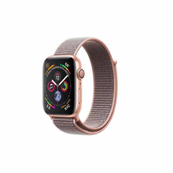 Apple Watch Series 4-44 mm GPS Gold Aluminum Case With Pink Sand Sport Loop (MU6G2-EC)