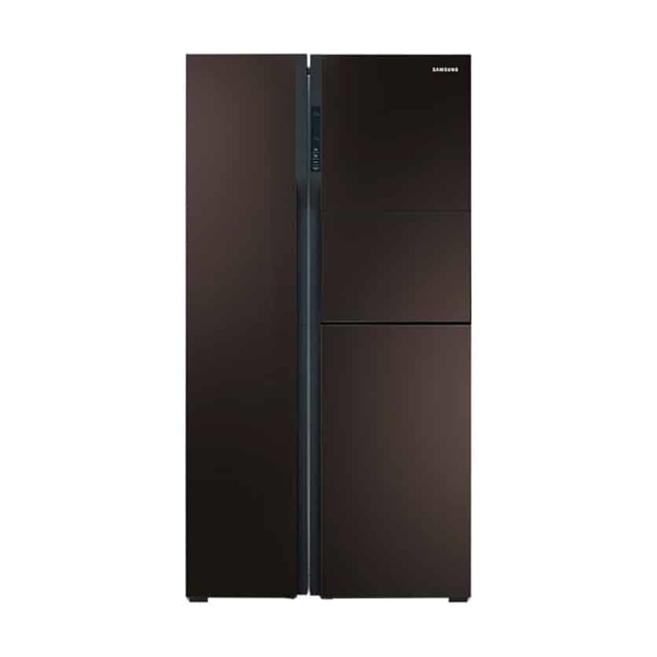 Samsung Side By Side Refrigerator, 680 Litres - Wine Glass Finish (RS554NRUA9M/AE)