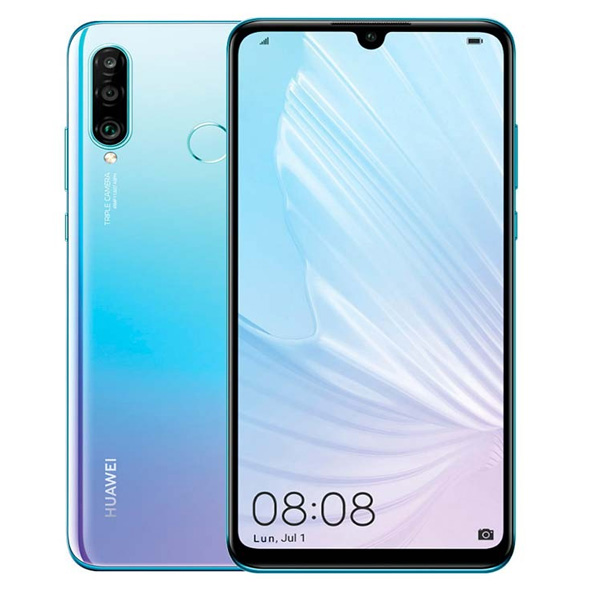 HUAWEI P30 128GB 4G DS ARABIC BREATHING CRYSTAL (FGMOHUAP30BLGTWATCH)
