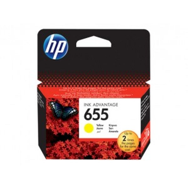 HP 655 Yellow Original Ink Advantage Cartridge (CZ112AE)