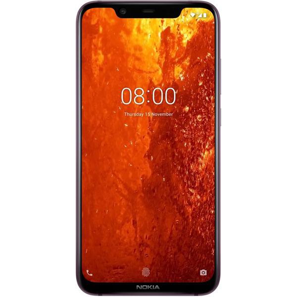 Nokia 8.1 Dual SIM - 64GB, 4GB RAM, 4G LTE, Iron Steel (NOKIA8-1-64GBST)