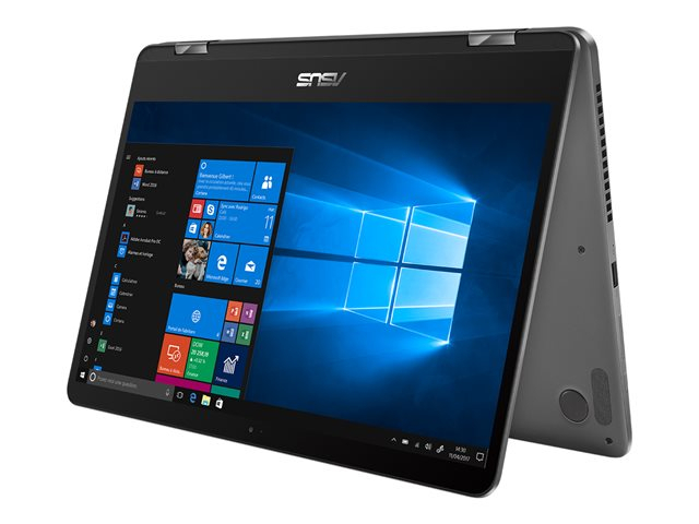 "Asus 14"" VivoBook FLIP CELERON 128GB SSD 4GB RAM Shared Graphics Windows 10 English/Arabic Keyboard TP401MA-EC340TS"