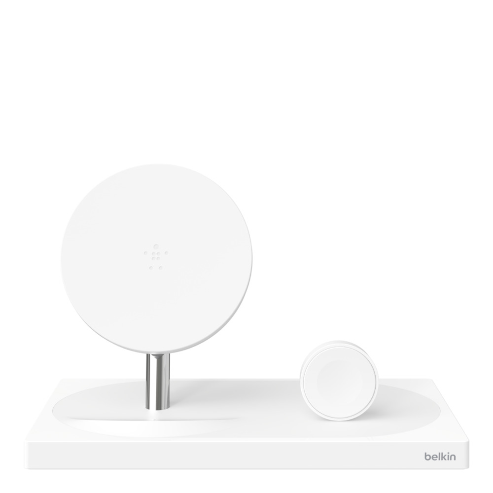 BELKIN 3-IN-1 10W WIRELESS CHARGIN STATION FOR IPHONE/ APPLE WATCH/ APPLE AIRPOD V2, WHITE F8J235myWHT