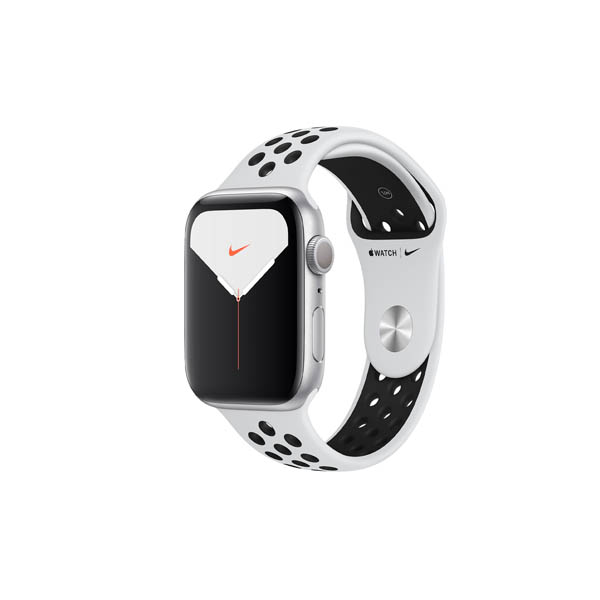 APPLE WATCH NIKE SERIES 5 GPS + CELLULAR, 40MM SILVER ALUMINIUM CASE WITH PURE PLATINUM/BLACK NIKE SPORT BAND - S/M & M/L (MX3C2AE/A)