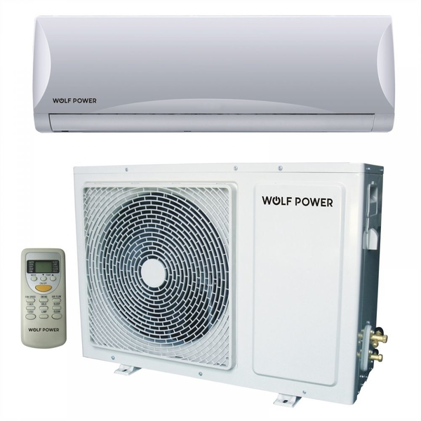 Wolf Power 2 Ton Split Air Conditioner with Piston Compressor, White (WSAC24PCH)