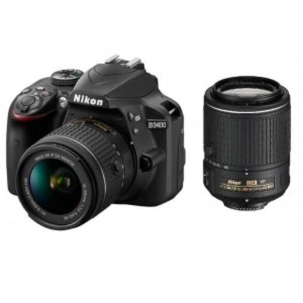 Nikon DSLR D3400 With 18-55mmVR plus 55-200mmVR (D3400KIT)