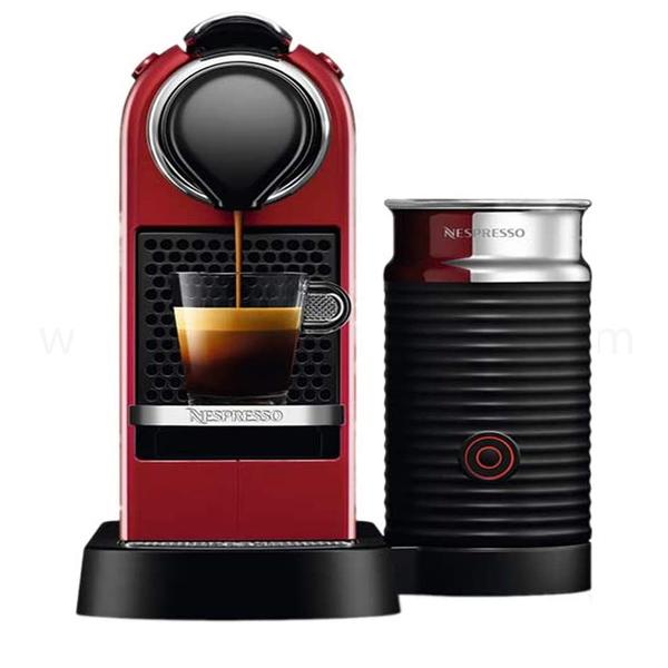 Nespresso Citiz & Milk D123 Cherry Red Coffee Machine C123-ME-CR-NE