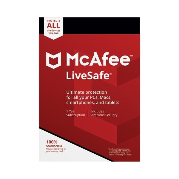 McAfee LiveSafe 2018 - Unlimited users (MLS00ANRURAA)