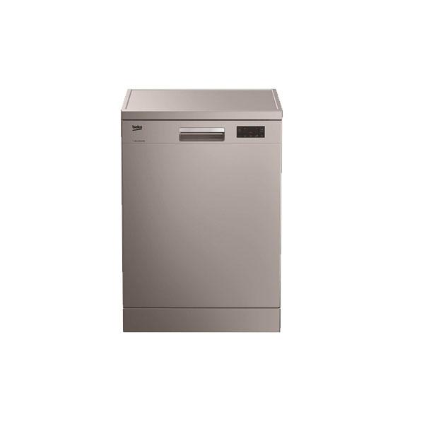 Beko Free Standing Dishwasher, 14 Place settings, 6 programs, ProSmart™ Inverter Motor, Half Load Option, A++ Energy Efficient, Silver Color, Made in Turkey (DFN16421S)