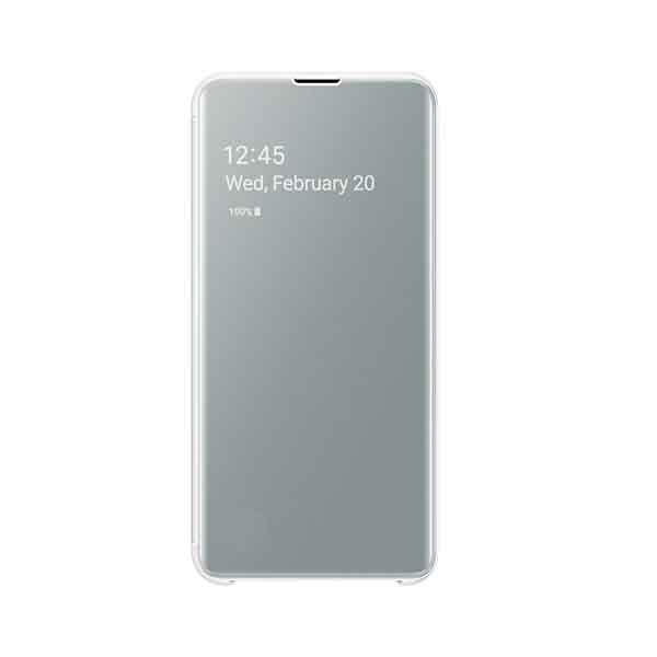 SAMSUNG S10E CLEAR VIEW COVER - WHT (EF-ZG970CWEGWW)