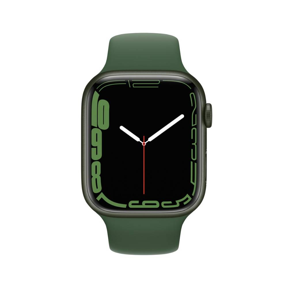 Apple Watch Series 7 GPS + Cellular, 41mm Green Aluminium Case with Clover Sport Band - Regular - MKHT3AE/A + EXTRA BAND