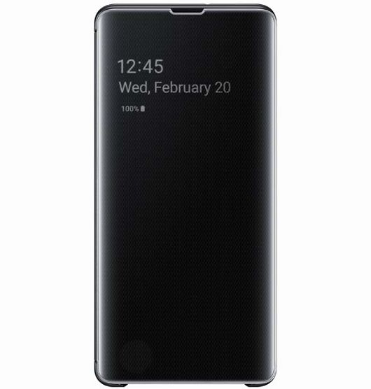 SAMSUNG S10 PLUS CLEAR VIEW COVER - BLK (EF-ZG975CBEGWW)