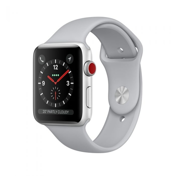 Apple Watch Series 3 with Cellular 38mm Silver Aluminum Case with Fog Sport Band (MQKF2AE/A)