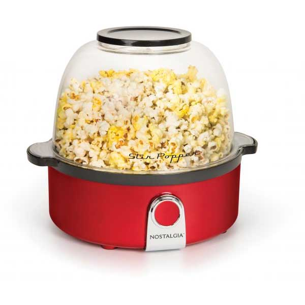 Nostalgia Retro Red Stir Popcorn Popper (SP240RR)