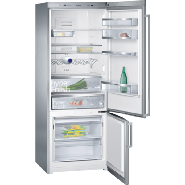 Siemens 500L iQ500 noFrost, Bottom freezer Door color Inox-easyclean (KG57NPI20M)