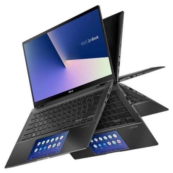 "Asus ZenBook Flip 14"" i5 10th Gen, 8GB RAM, 512GB SSD, 2GB Graphics, Win10 - Gun Grey UX463FL-AI023T FHD English / Arabic Keyboard"