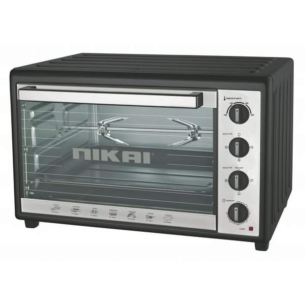 Nikai Electric Toaster Oven, 100 L, Black (NT1001RCA)