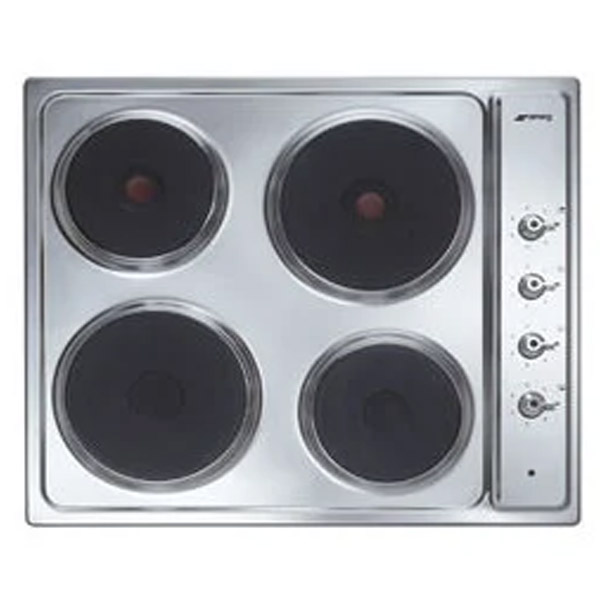 "Smeg 60cm ""Classica"" Electric Hob Stainless steel (SE435X)"