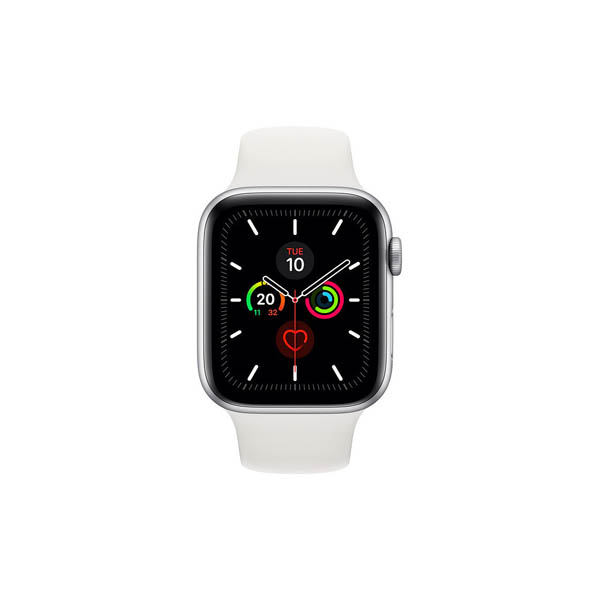 Apple Watch Series 5 GPS, 40Mm Silver Aluminium Case With White Sport Band (Mwv62Ae/A)