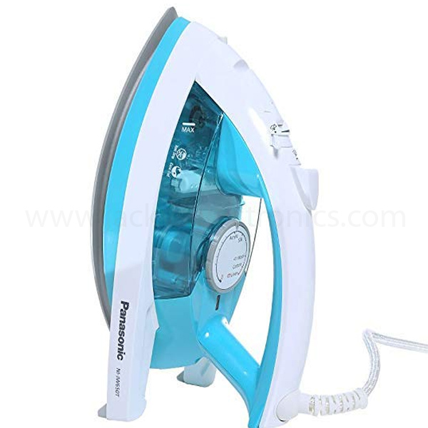 Panasonic Made in Japan Steam Iron, 360Deg Sole plate, 2200W, Titanium Coating (NIJW650)