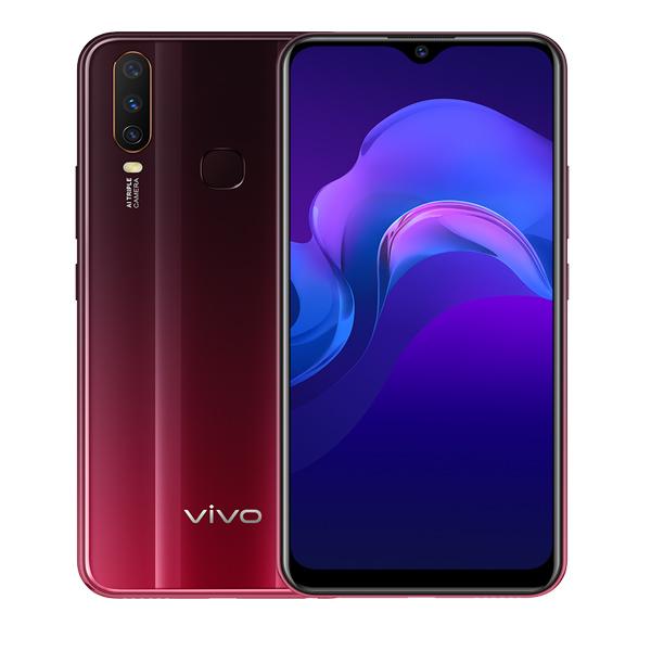 VIVO SMART PHONES Y15, 4GBRAM, 64GB, DUAL SIM, BURGUNDY RED (VIVOY15-64GB-BR)