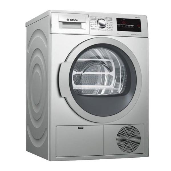 BOSCH  Serie 6 Condenser Dryer 9kg Inox (WTG8640SGC)