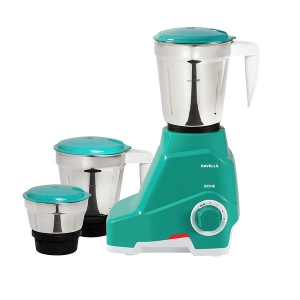 Havells Genie 500-Watt Juicer Mixer Grinder - Green (GENE500W3G)