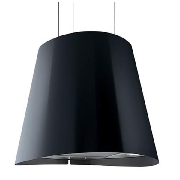 Baumatic 50cm Designer Island Cooker Hood (BMECH5IPBL) BLACK STAINLESS STEEL