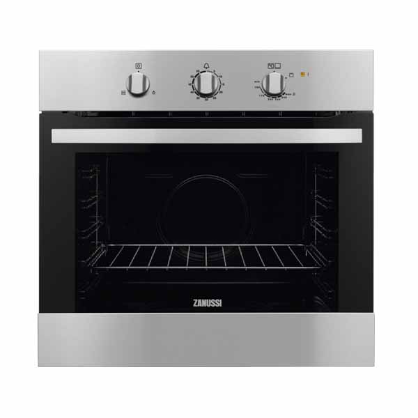 Zanussi 60cm Gas Oven w/Gas Grill, High Gloss Enamel Oven Lining (ZOG10311XK)