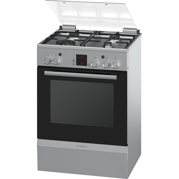 Bosch Serie 2 Gas Freestanding Cooker Stainless Steel (HGA24W255M)