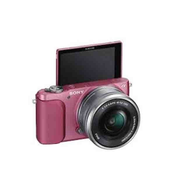 SONY CAMERA / DIGITAL -PINK- WITH SELP1650 ,16-50MM LENS  (NEX3NLPN)