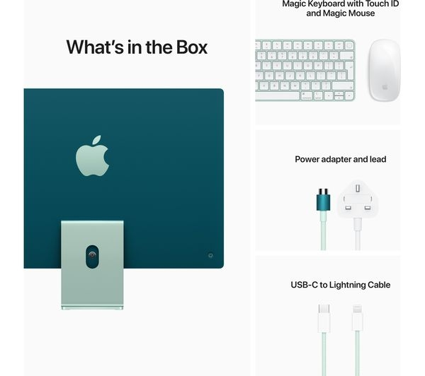 Apple IMAC M1 chip with 8‑core CPU and 8‑core GPU, 512GB 24-inch with Retina 4.5K display MGPJ3ZS/A Green