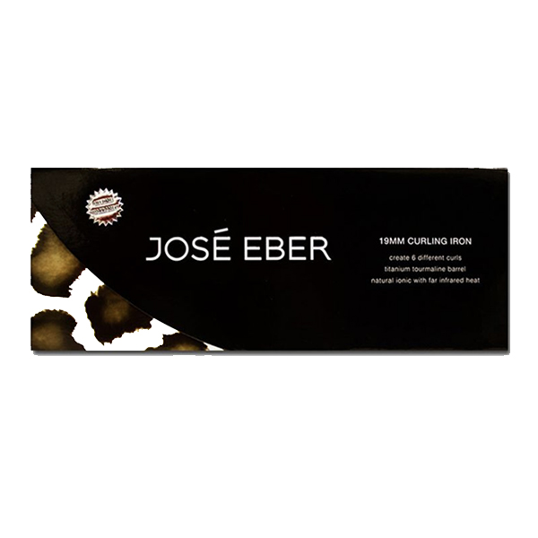 JOSE EBER Pro Series Hair Curling Iron Black/White 19millimeter (JEJHCG19SS)