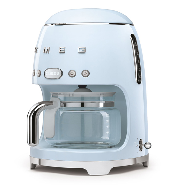Smeg Drip Filter Coffee Mach. Pastel Blue (DCF02PBUK)