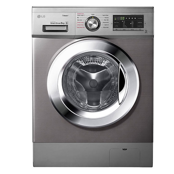 LG Front Load Washer, 8 Kg, 6 Motion Direct Drive, Steam Technology (FH4G6TDY6)