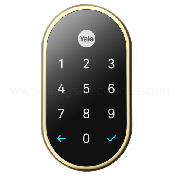 NEST SMART LOCK X YALE-POLISHED BRASS (NEST-LOCKX-POLISHED BRASS)