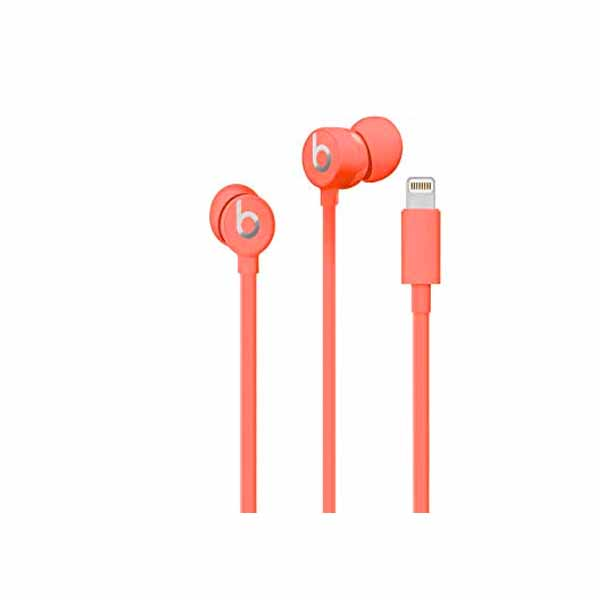 Beats urBeats3 Earphones with Lightning Connector – Coral (MUHV2EE/A)