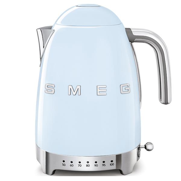 Smeg Kettle 1.7 Litres ,Variable Temperature ,Pastel Blue (KLF04PBUK)