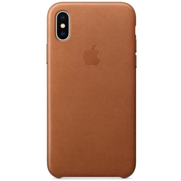 Apple iPhone X Leather Case - Saddle Brown (MQTA2ZM/A)